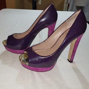 Vince Camuto Graph 9B purple/pink peep toe heels